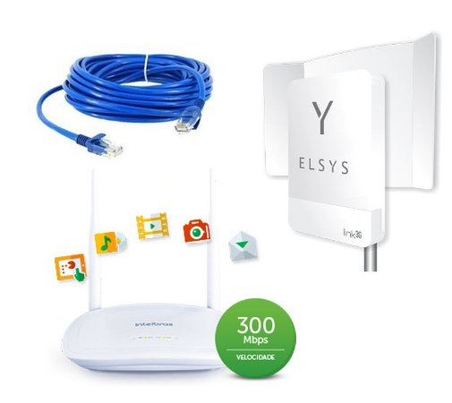 Kit Roteador Externo Internet Link 3G Longo Alcance
