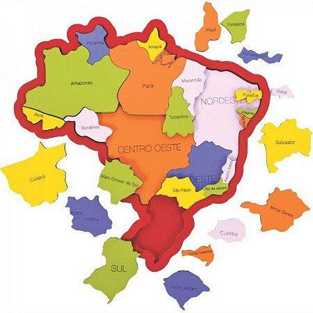 Quebra-Cabeça do Brasil - Regiões - Estados - Capitais