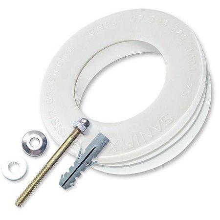 Anel de vedação  para vaso Sanitário SANIFIX  + Kit de Parafusos