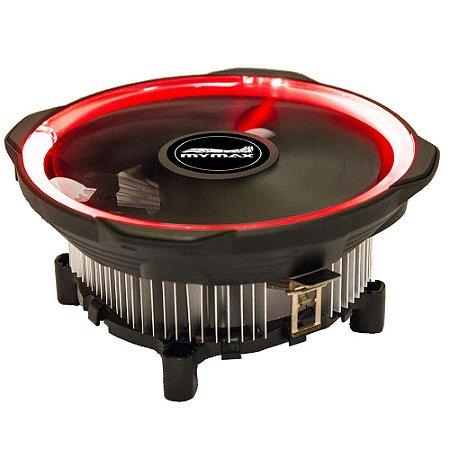 Cooler Gamer Mymax AMD e Intel ( Universal ) Led Vermelho 12cm