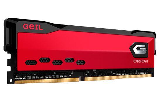 Memória DDR4 Geil Orion 16GB 3000MH Vermelho GAOR416GB3000C16ASC