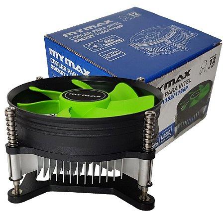 Cooler para Processadores Intel socket 1150/1151/1155/1156P MYMAX