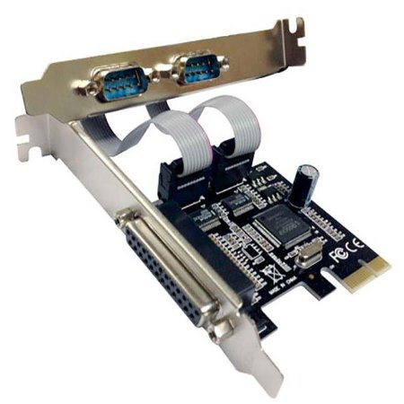 Placa Pci Express 2 Portas Seriail E 1 Paralela Db9 Rs232 DP 03