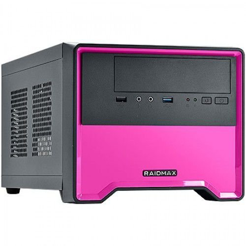 GABINETE GAMER ELEMENT 101BP CASE - COR PINK - C/ FAN TRASEIRO DE 80MM - SEM FONTE - RAIDMAX