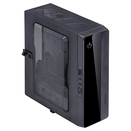 Gabinete K-Mex 1 Baia Mini Itx GI-10S1 Preto - Com Fonte 130w, Audio E 2 Usb