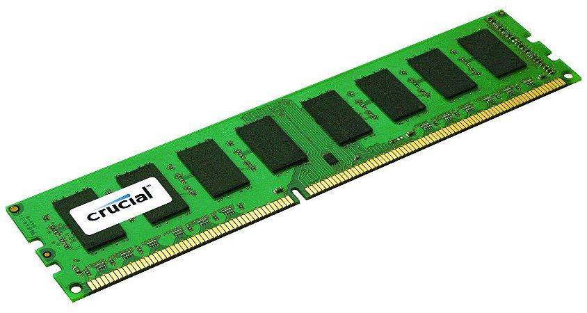 Memoria 8GB DDR3 1600mhz Crucial