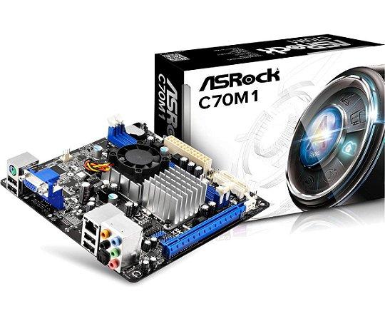 Placa Mãe Asrock C/ Processador AMD Dual Core Ontario C-70