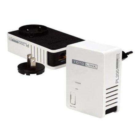Extensor Powerline Adaptador TotoLink PL200 200Mbps