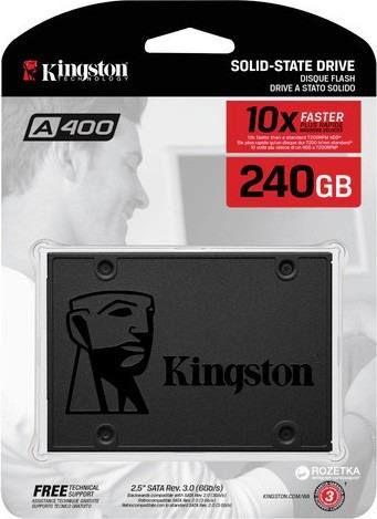HD SSD 240GB Kingston A400 Sata III - SA400S37/240G