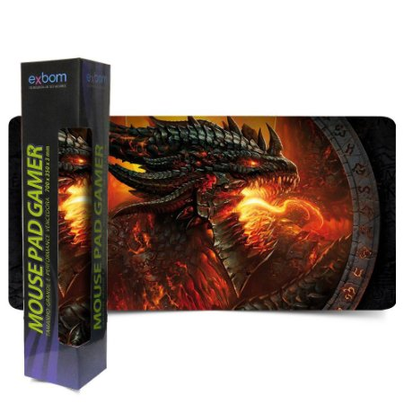 MOUSE PAD DRAGAO GAMER EXTRA GRANDE GAME MEDIDA 700X350X3MM MP 7035A