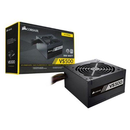 Fonte 500W Corsair VS500 80Plus White Atx PFC Ativo