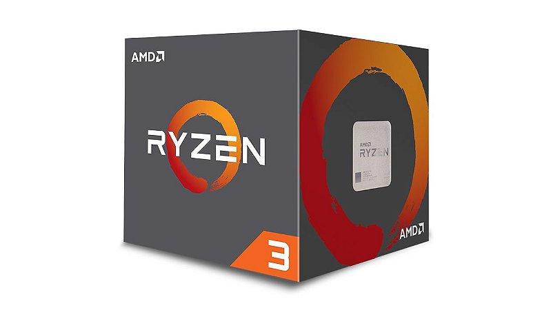 Processador AMD Ryzen 3 1200, Quad Core, Cache 10MB, 3.1GHz (3.4GHz Max Turbo) AM4 - YD1200BBAEBOX