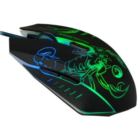 Mouse 6D Gamer Sensor Alta Performance Marvo Scorpion M316 1000/2400 DPI LED 7 COLORS
