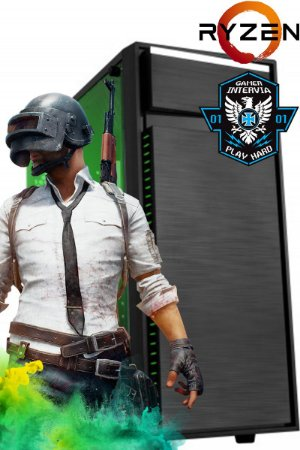 Computador PubG AMD Ryzen 5 1400 Quad Core 3.2Ghz + 8GB DDR4 + HD 1TB + Nvidia GTX 1060 3GB DDR5
