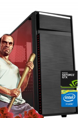 Computador Gamer Intervia Intel i3 Nvidia GT 1030 2GB DDR5 HD 1TB Mem 8GB