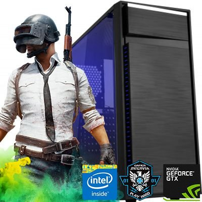 PC Gamer Intervia Intel i3 4150 Ati Radeon RX 560 4GB DDR5 HD 1TB Mem 8GB