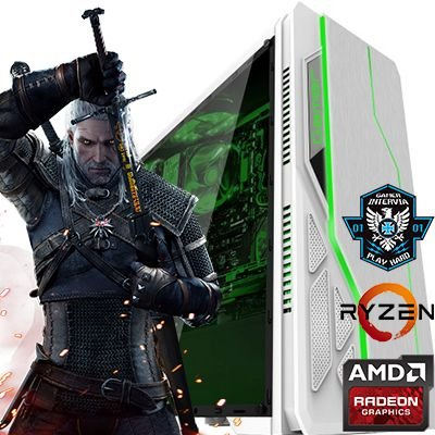 Computador Intervia Extreme2 AMD Ryzen 1600 Six Core 3.20 Ghz + 8GB DDR4 + HD 1TB + Nvidia Geforce GTX 1050 2GB DDR5