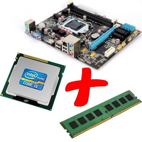 Kit Processador Core i5 3.10 Ghz 6M + Motherboard H61 + 4GB DDR3