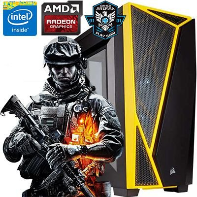 Computador Gamer Intervia Core i7 3.40 Radeon RX 560 4GB DDR5 HD 1TB 8GB DDR3