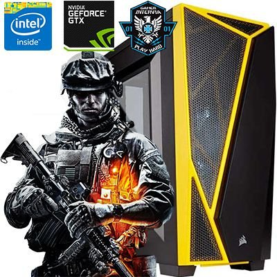Computador Gamer Intervia Core i7 3.40 Nvidia Geforce GTX 1060 3GB DDR5 HD 1TB 8GB DDR3