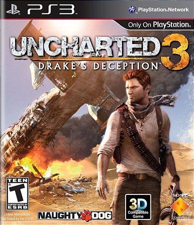 Uncharted 3 Drakes Deception - Ps3 Mídia Física Usado