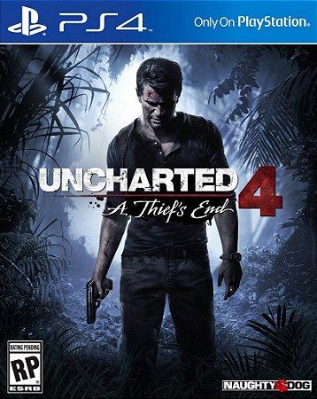 Uncharted 4 - PS4 Mídia Física Novo Lacrado