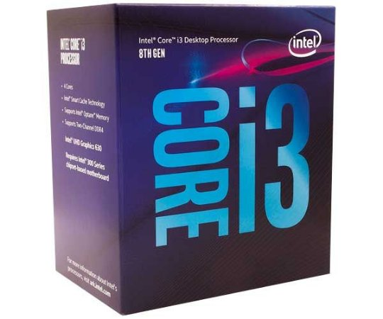 PROCESSADOR INTEL CORE I3-8100 COFFEE LAKE LGA 1151 3.6GHZ 6MB CACHE, BX80684I38100