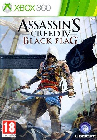 Assassins Creed Black Flag - Xbox 360 Mídia Física Usado