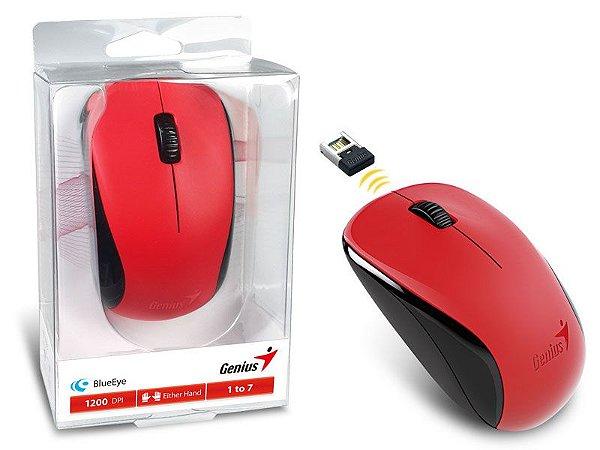 Mouse Genius Wireless NX7000 Blueeye 2,4 GHZ 1200Dpi Vermelho