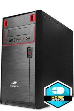 Computador Office5 Core i3 4130 3.4Ghz 3M + 4GB DDR3 1333Mhz + HD 500GB + Gabinete