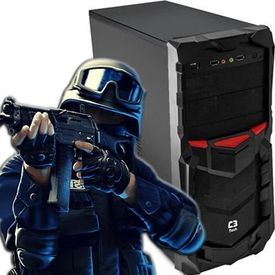 Computador Gamer intervia Hybrid AMD Athlon X4 2.80 Ghz + 4GB DDR3 + HD 500GB + Nvidia Geforce GTX 750