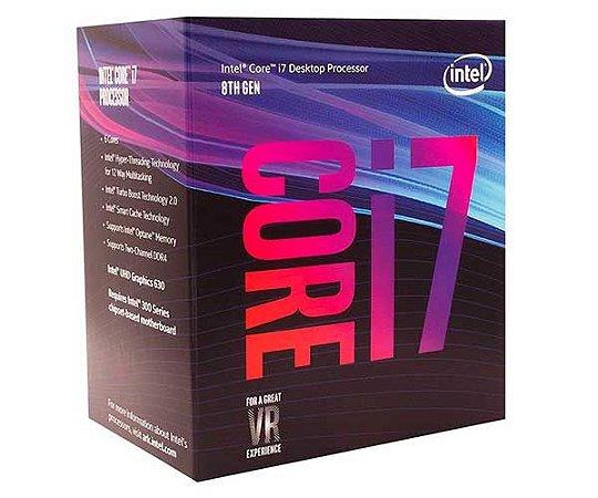 Processador Intel I7 8700 3.20GHz Box LGA1151 Coffee Lake - 8a. Geração