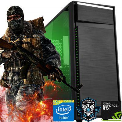 Computador Raptor Core i3 8100 3.6Ghz 8ª Geração + 8GB DDR4 + HD 1TB + GTX 1050 3GB DDR5 + Gabinete