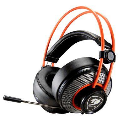 Headset Gamer Cougar P2 Stereo Preto e Laranja Immersa