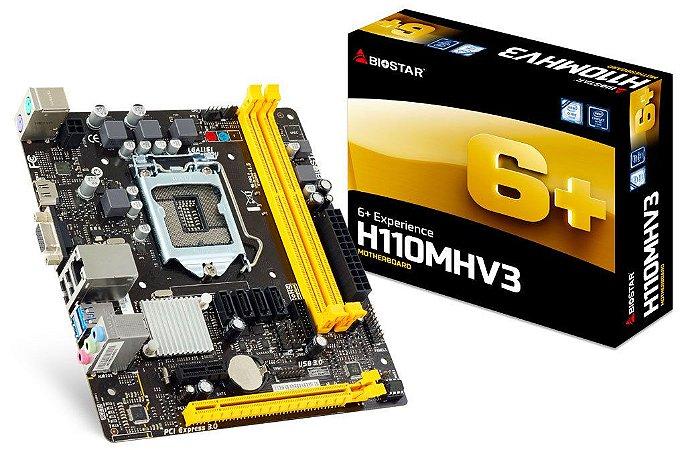 Placa Mãe Biostar H110MHV3 1151P DDR3 VGA/HDMI