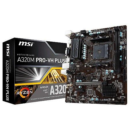 Placa Mãe MSI AM4 A320M PRO-VH PLUS DDR4