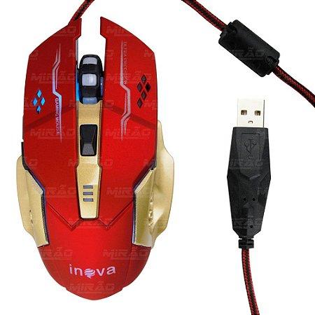 Mouse Gamer Homem de Ferro Inova MOU-6928