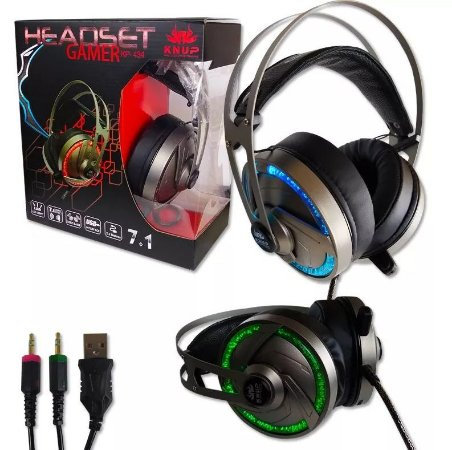 Headset Gaming Kp-434 Surround 7.1 Effects Knup