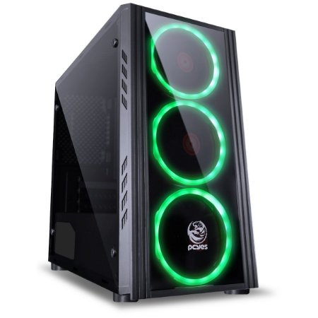 Gabinete Gamer Saturn 3 Led Green