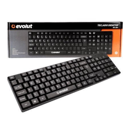 Teclado Evolut Office ABNT2 USB