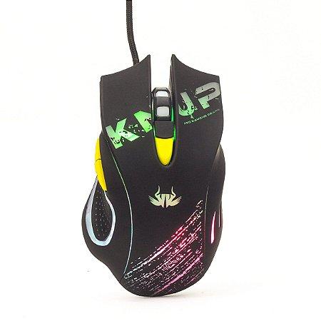 Mouse Gamer 6D Knup KP-V30 LED 7 Cores