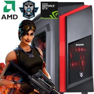 Computador Sniper AMD Ryzen 1200 Quad Core 3.1Ghz + 4GB DDR4 + SSD 240 + Nvidia GTX 1050 3GB DDR5