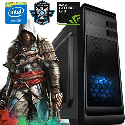 Computador Intervia Ryzen 2200G Quad Core 3.5Ghz + 8GB DDR4 + SSD 240GB + GTX 1050 2GB DDR5