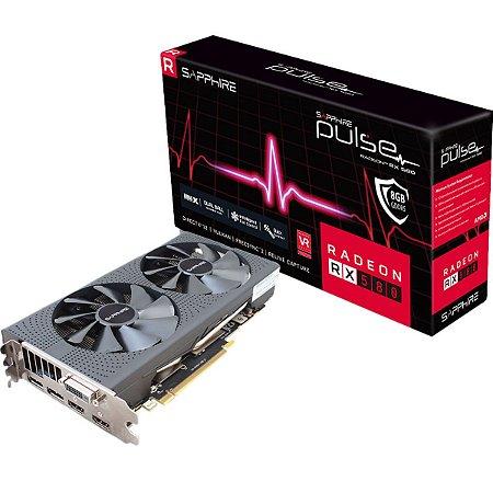 Placa de Vídeo Sapphite Radeon RX 580 Red Dragon 8GB AXRX 580 8GBD5 Dual Fan