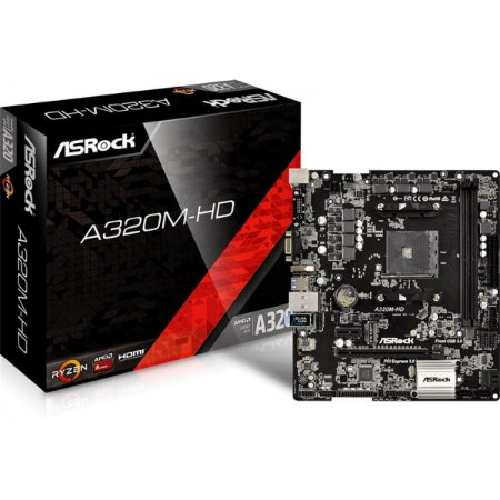 Placa Mãe AMD AM4 ASROCK A320M-HD DDR4
