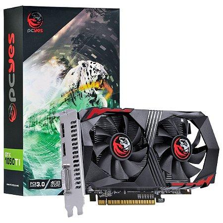 PLACA DE VIDEO NVIDIA GEFORCE GTX 1050 TI 4GB GDDR5 128 BITS DUAL-FAN - PA1050TI12804G5DF