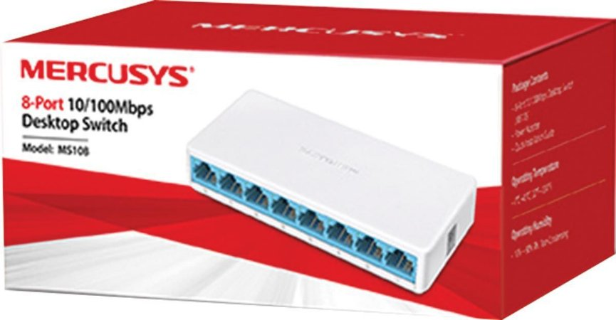 SWITCH DE MESA 8 PORTAS 10/100MBPS MS108