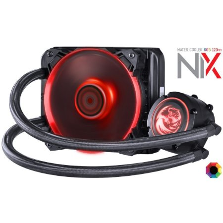WATER COOLER NIX 120MM MANGUEIRAS DE NYLON E LED RGB - PWC120H40PTRGB