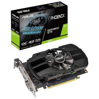 Placa de Vídeo Asus Geforce GTX 1650 4GB DDR5 128 Bit PH-GTX1650-O4G