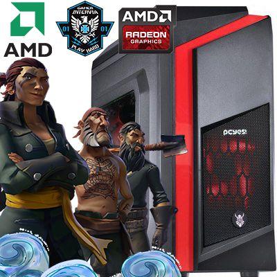 Computador  Intervia AMD Ryzen 3 1200 3.10Ghz Quad Core + 8GB DDR4 + HD SSD 240GB + Ati Radeon RX 560 4GB DDR5
